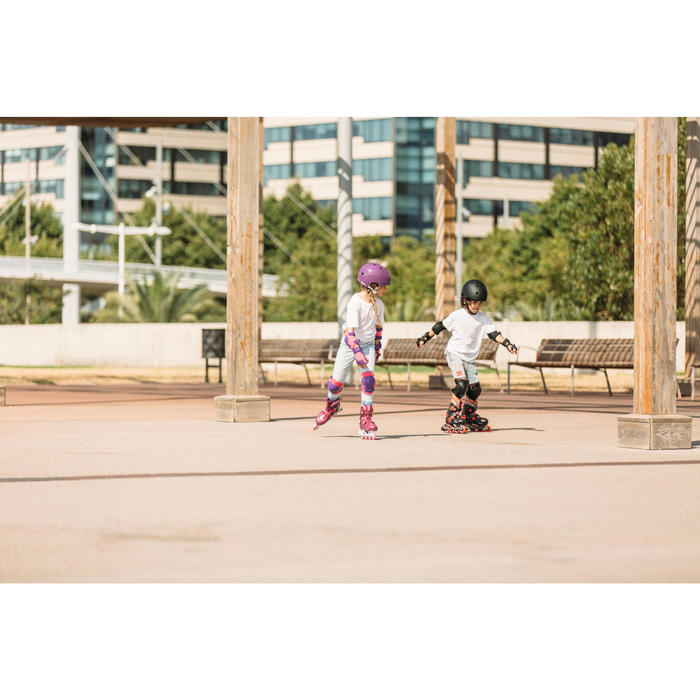 Patines Patinaje En Línea Oxelo Play 5 Niños Rosa