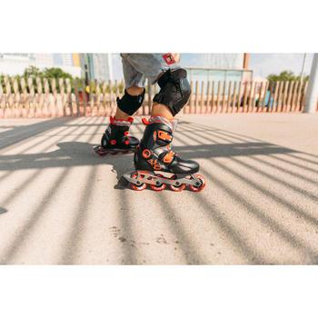 Inlineskates Inliner Play 5 Kinder schwarz/rot