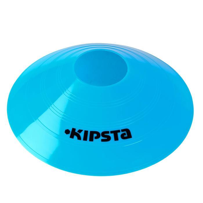 Set de 40 disques plats (10 bleus, 10 blancs, 10 rouges, 10 jaunes) - 126456