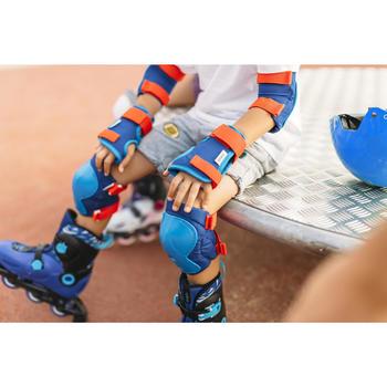 Set 3 beschermers Play voor kinderen, skeeleren, skateboard, step blauw rood