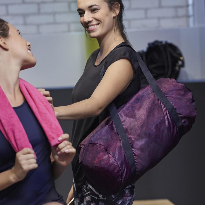 900 女性有氧健身運動背心 - 藍色與白色滾邊
