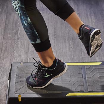 Chaussures fitness cardio-training 500 femme bleu et - 1264581