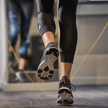 Chaussures fitness cardio-training 500 femme bleu et - 1264582