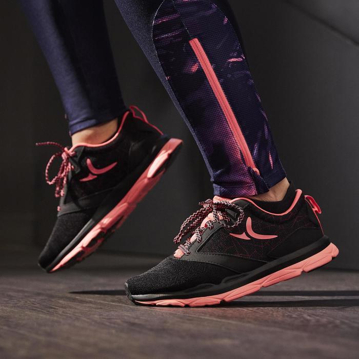 Chaussures fitness cardio-training 500 femme noir et - 1264583