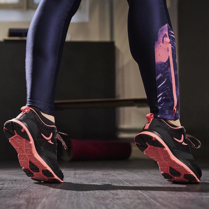 Chaussures fitness cardio-training 500 femme noir et - 1264585