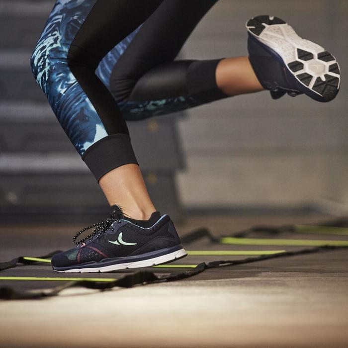 Chaussures fitness cardio-training 500 femme bleu et - 1264590