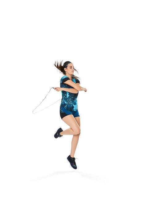 T-shirt fitness cardio femme rose fluo 500 Domyos - 1264591