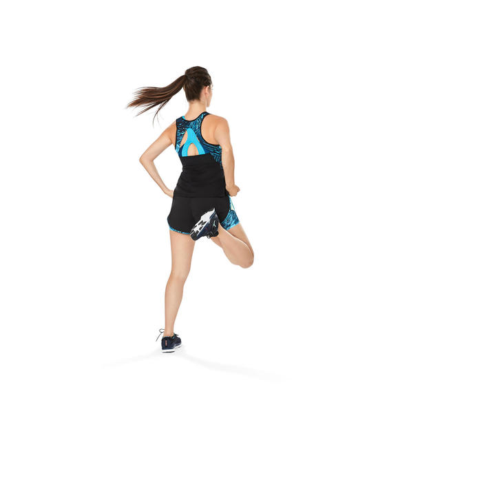 Chaussures fitness cardio-training 500 femme bleu et - 1264593