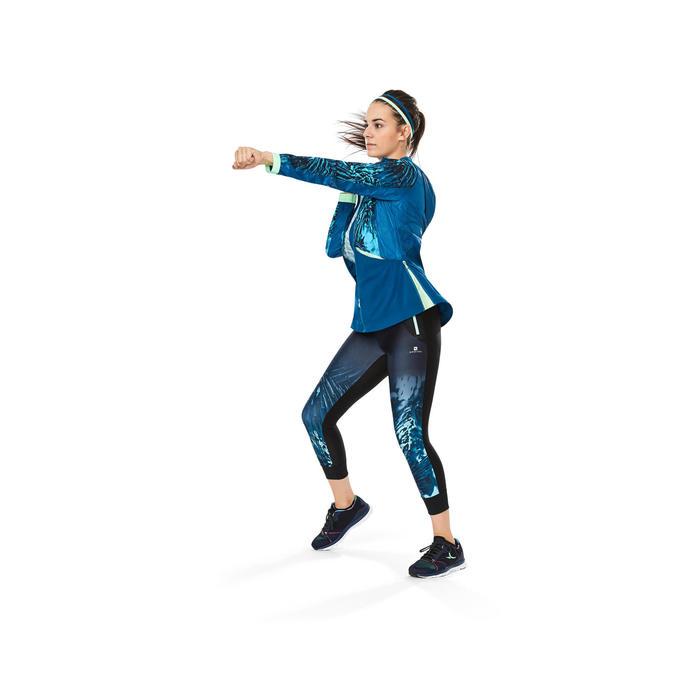 7/8 fitness cardio femme à imprimés tropicaux roses 500 Domyos - 1264594