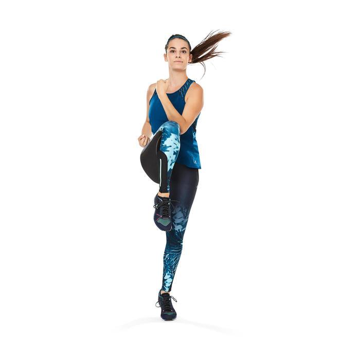 Zapatillas fitness cardio-training 500 mujer Azul y Verde