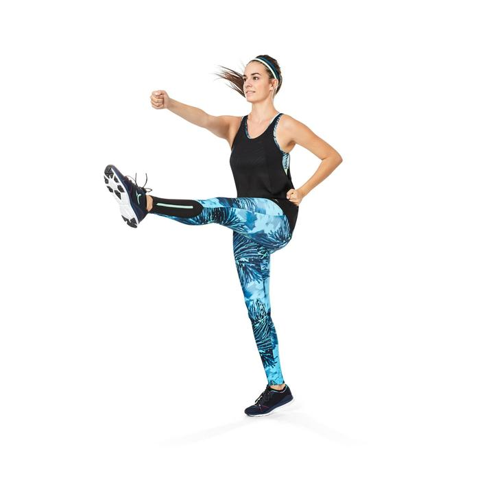 Débardeur brassière intégrée fitness cardio femme noir 500 Domyos