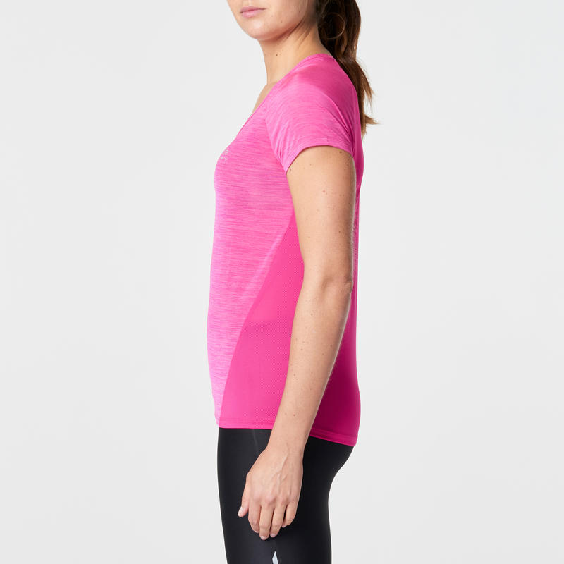 SS T-SHIRT RUN LIGHT WOMEN'S RUNNING T-SHIRT - PINK