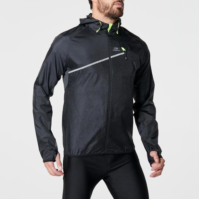 Veste coupe-vent trail running noir graph homme