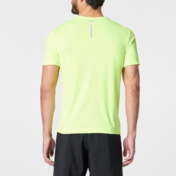 PLAYERA DE RUNNING PARA HOMBRE RUN DRY AMARILLO