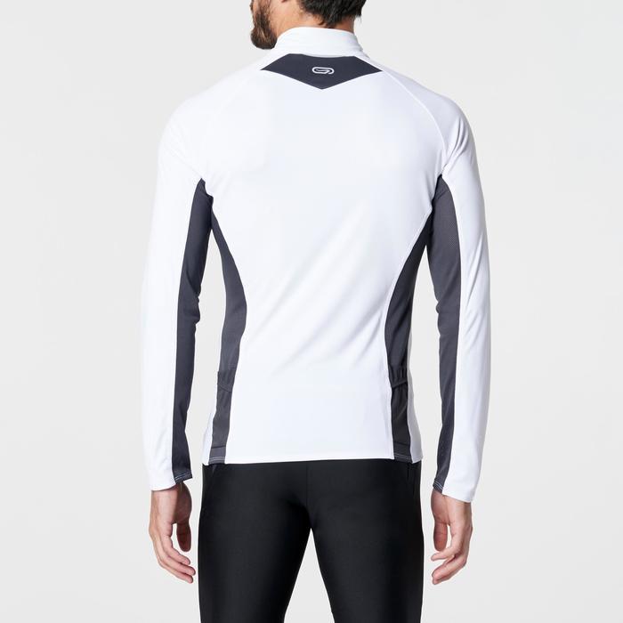 T-shirt met lange mouwen trail running wit/geel heren