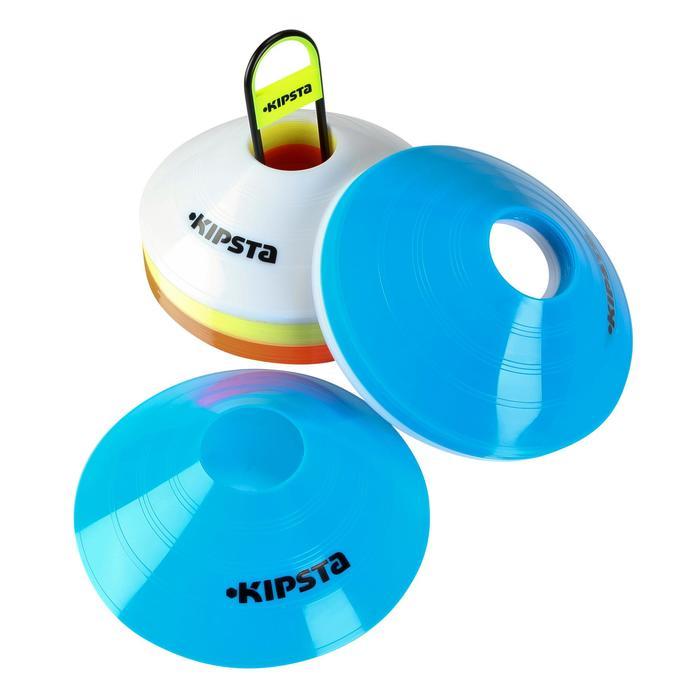 Set de 40 disques plats (10 bleus, 10 blancs, 10 rouges, 10 jaunes) - 126467