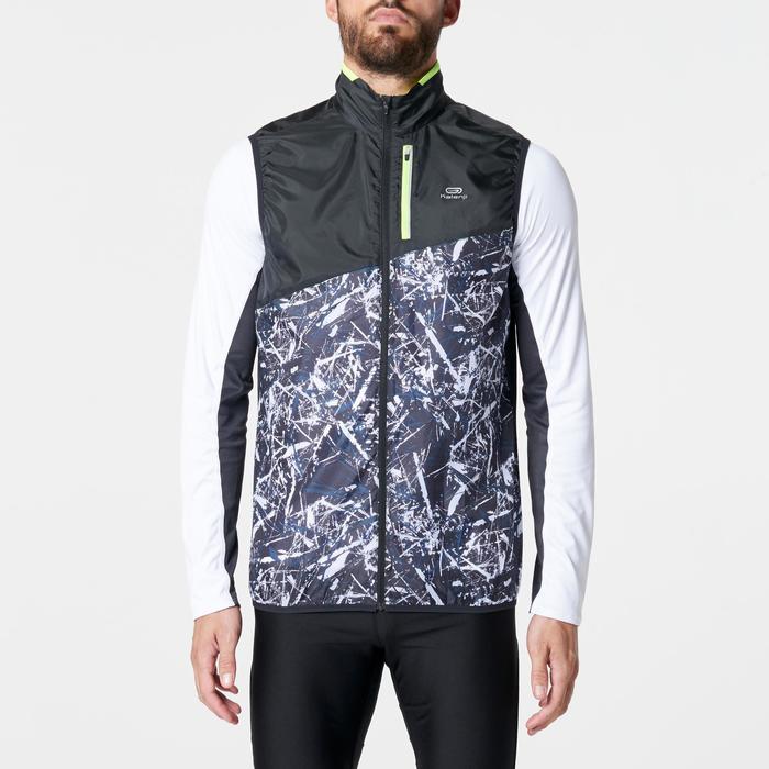 Veste sans manches coupe-vent trail running noir graph homme - 1264671