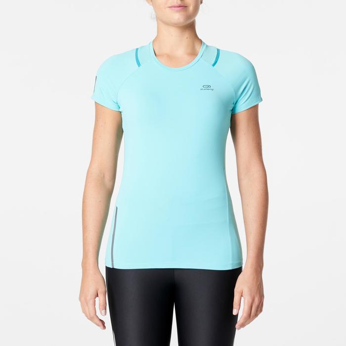 T-shirt korte mouwen jogging dames Run Dry+ groen