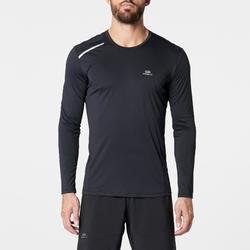 Camiseta Manga Larga Running Kalenji Sun Protect Hombre Negro