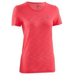 女性跑步運動T恤 Kiprun Care Kalenji - 黑色