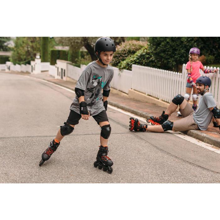 Fitness skeelers voor kinderen Fit 3 zwart oranje