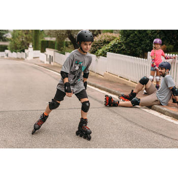 Inline Skates Inliner FIT 3 Fitness Kinder schwarz/orange