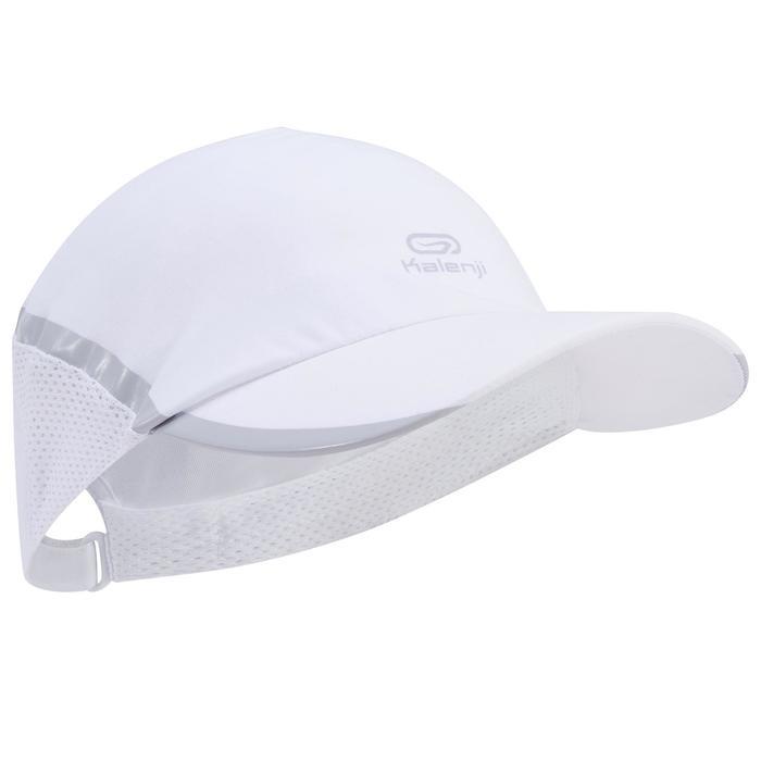 Verstelbare pet voor hardlopen dames wit 53-61 cm
