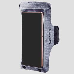 Hardloop armband voor grote smartphone staalgrijs