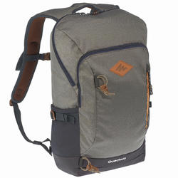 Hiking Bag 20 Litre (with Raincover) NH500 - Khaki Grey