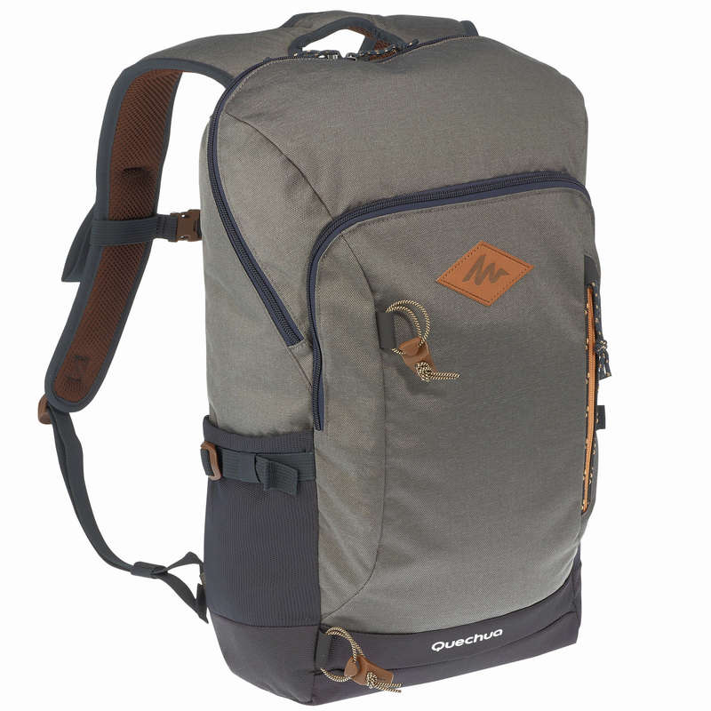 10L TO 30L NATURE HIKING BACKPACKS Hiking - NH500 20L Backpack - Grey QUECHUA - Hiking Backpacks and Bags