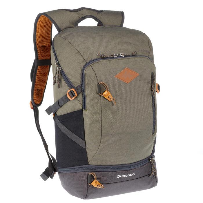 selección premium 44e25 5548f Mochila de Montaña y Senderismo Quechua NH500 30 Litros Caqui