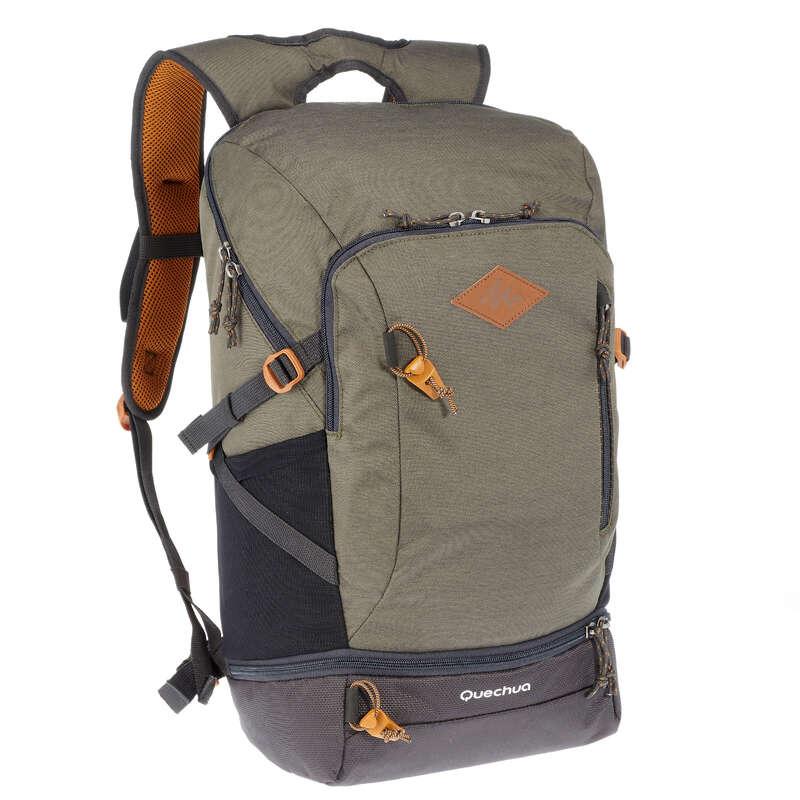 Tagesrucksäcke 10-30 L Naturwandern Sport- und Reisetaschen - Wanderrucksack NH500 30L khaki QUECHUA - Sport- und Reisetaschen