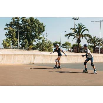 Roller fitness enfant FIT 5 Jr gris rose
