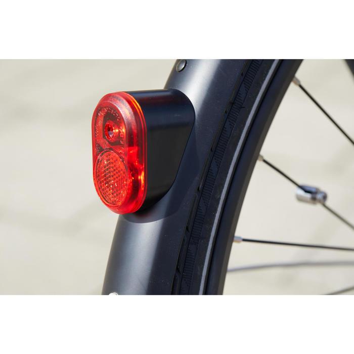 Elektrische fiets / E-bike Elops 940 laag frame stadsfiets antraciet