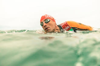 Breathing and orientation in open water swimming