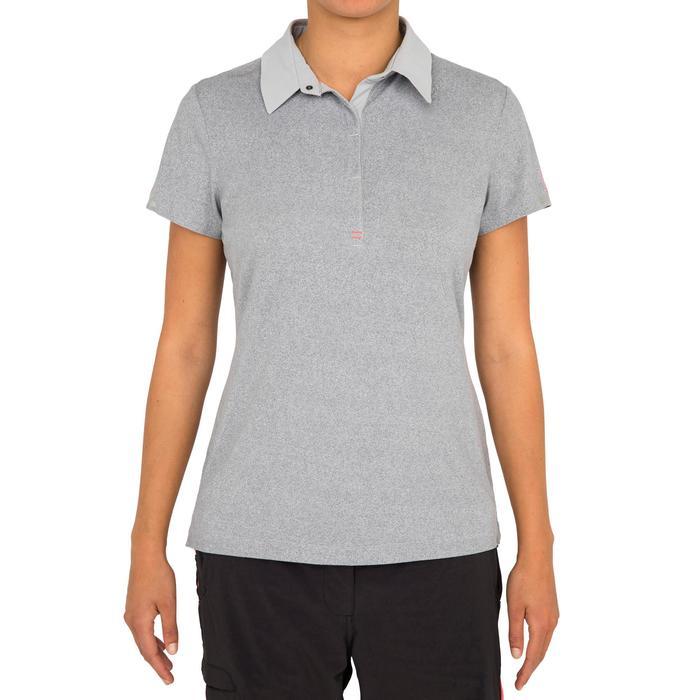 Poloshirt kurzarm Segeln Race Damen grau