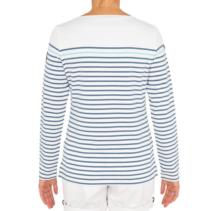 Camiseta de manga larga vela de aventura 100 mujer blanco gris