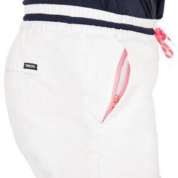Segelshorts Sailing 100 robust Damen weiß