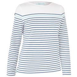 Women's 100 Adventure Long-sleeved Sailing T-Shirt White Grey