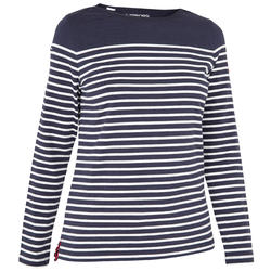 Women's Long Sleeve Sailing T-Shirt Sailing 100 - Blue