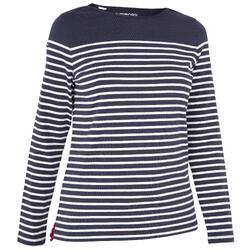 T-Shirt Manches longues Voile aventure 100 Femme Bleu