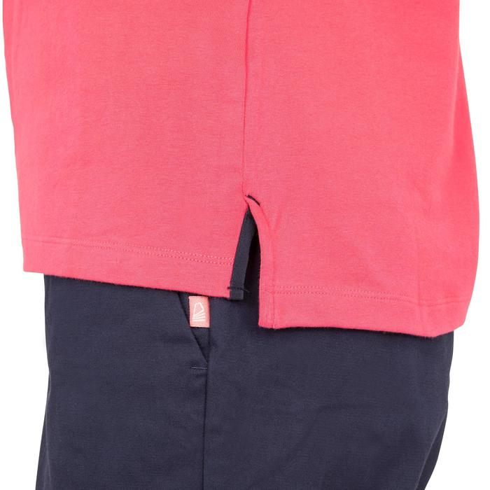 Polo Manches courtes Voile aventure 100 Femme Rose