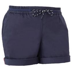 Zeilshort 100 voor dames, donkerblauw