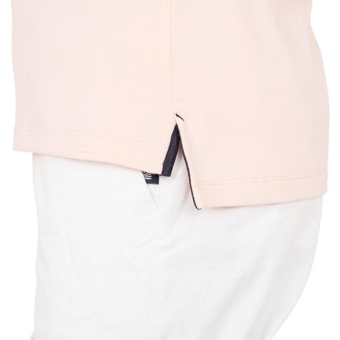 女款航海短袖Polo衫100 Adventure-粉紅色