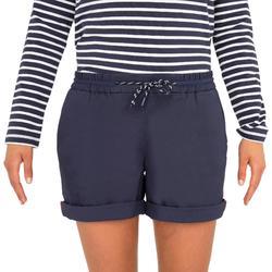 Segelshorts Sailing 100 Damen dunkelblau