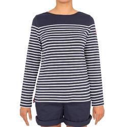 Camiseta de manga larga de vela mujer SAILING 100 Azul