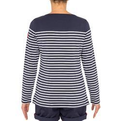 Segelshirt langarm Sailing 100 Damen blau