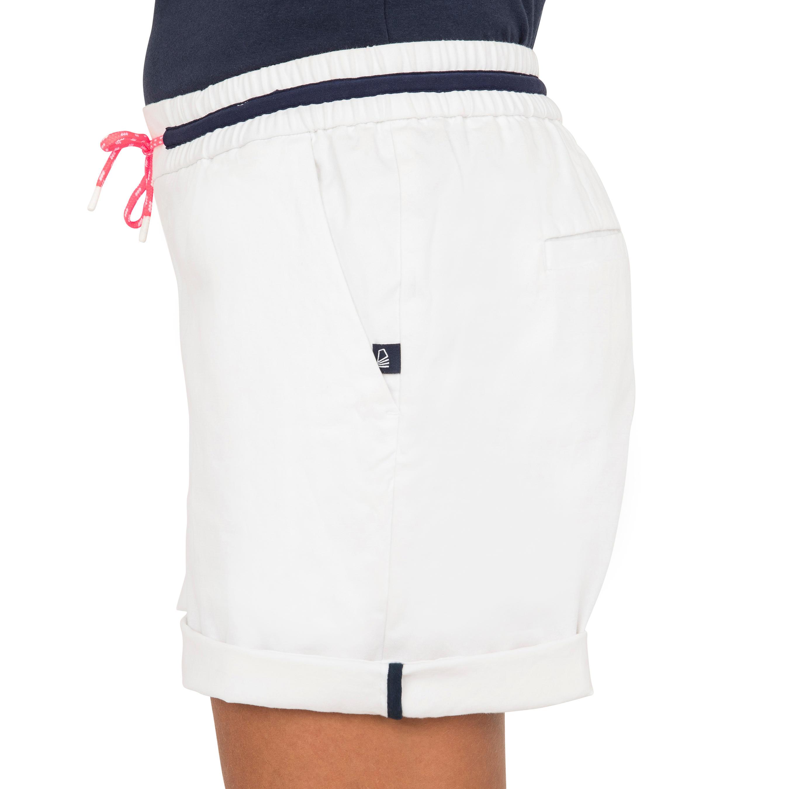 Robuste Voile Femme Short De Sailing 100 Blanc uZkXiOPT