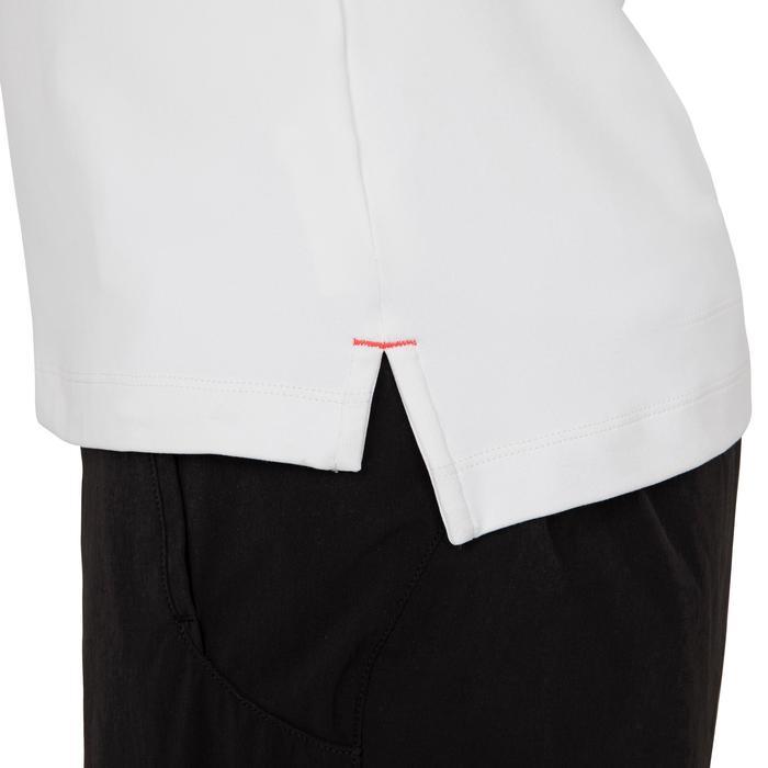 Polo manches courtes de régate bateau femme Race blanc