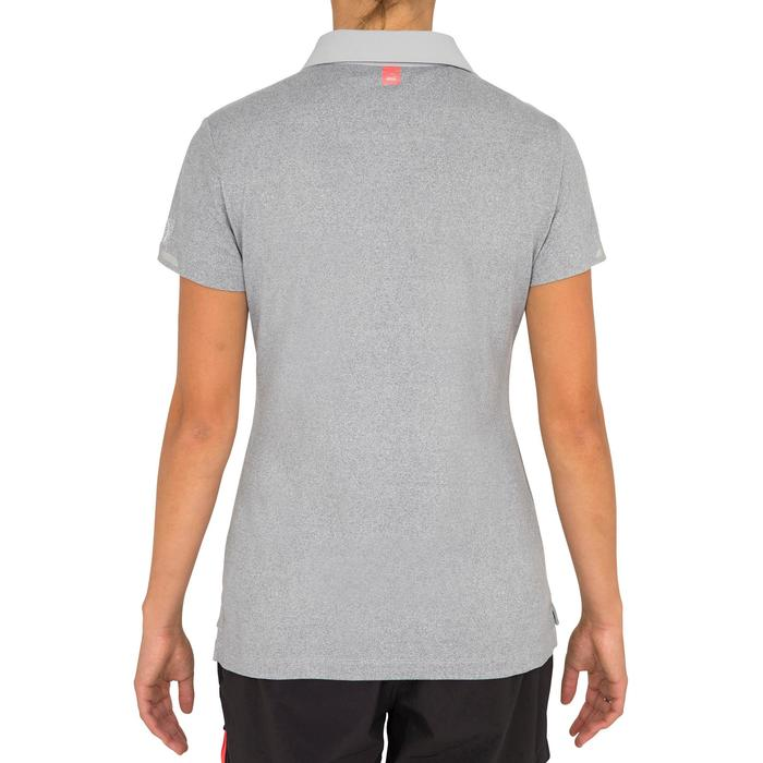 Women's Sailing Short Sleeve Polo Shirt Race - Mottled Grey